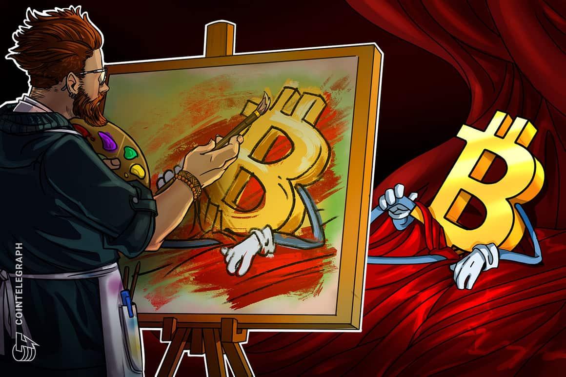 Cointelegraph celebra que Bitcoin alcanzó los USD 50,000 con un token no fungible exclusivo