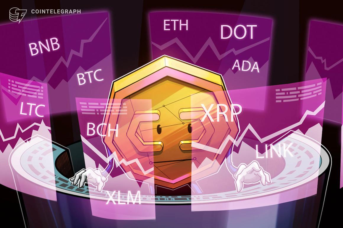 Análisis de precios del 22 de febrero: BTC, ETH, BNB, DOT, ADA, XRP, LTC, LINK, BCH, XLM