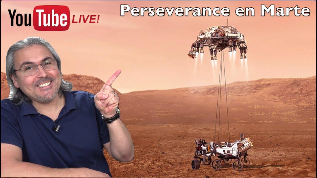 Perseverance ATERRIZAJE en Marte en VIVO