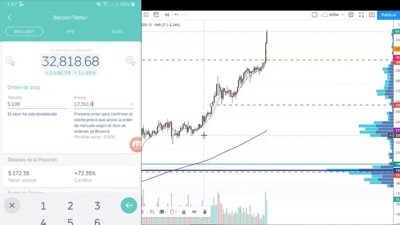 BITCOIN 40.000 DOLARES [Como gestionar ganancias desde tu celular] Quantfury app criptomonedas