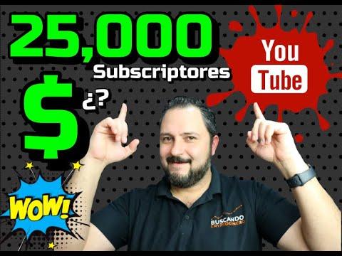⬆️ Cuánto me paga Youtube con 25000 Subscriptores? 😱🤑