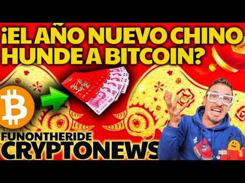 ¿CAÍDA de BITCOIN por AÑO NUEVO CHINO?