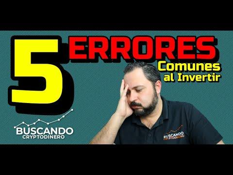 ⛔️TOP 5 ERRORES COMUNES ☠️ cuando comienzas a INVERTIR !!! #EVITALOS ☑️