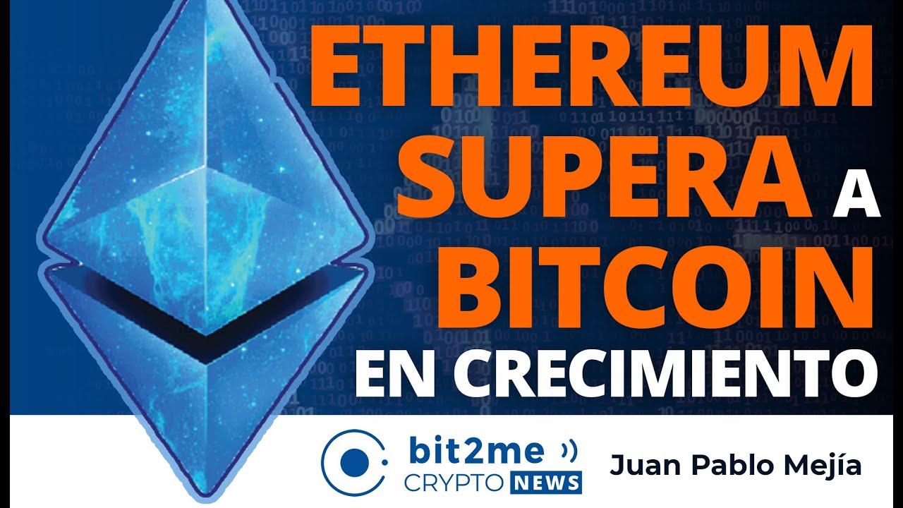 🔵 🎉 ETHEREUM SUPERA a BITCOIN en crecimiento – Bit2Me Crypto News