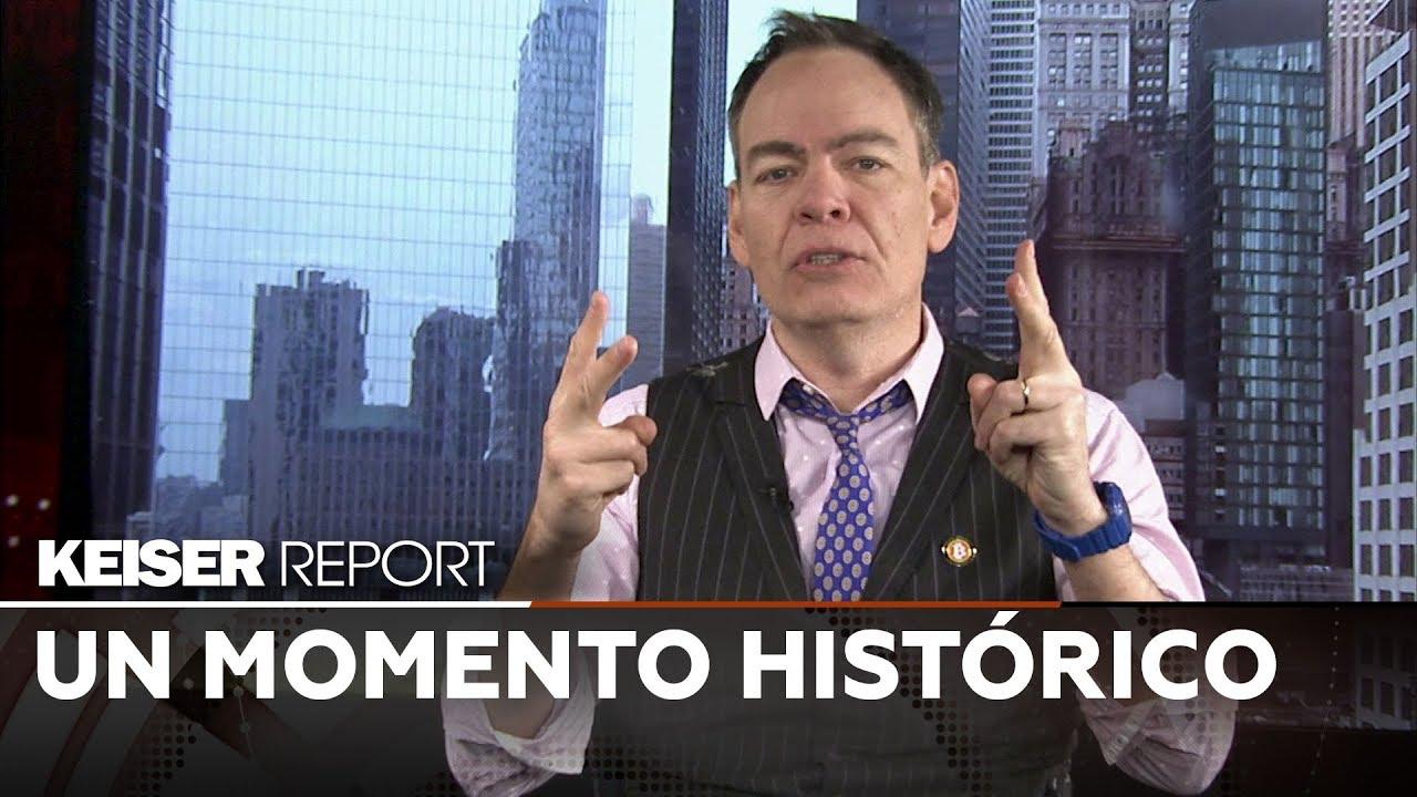 """Keiser Report en Español: """"El bitcóin es como un oro sintético, el nuevo oro o el oro 2.0"""" (E1349)"""