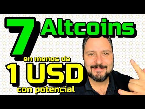 SIETE 7️⃣ Altcoins 🚀 EN MENOS de 1 USD que pueden Explotar 🤯!!! Top#7