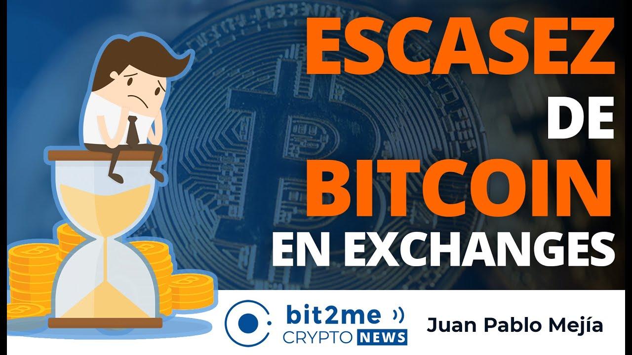 🔵 😨 ESCASEZ de BITCOIN en exchanges – Bit2Me Crypto News