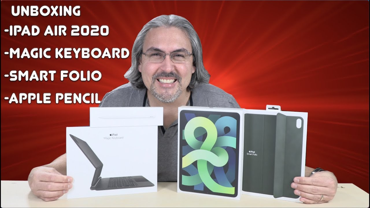 iPad Air 2020 MAS Magic Keyboard, Apple Pencil y Smart Folio UNBOXING FIRST IMPRESSIONS
