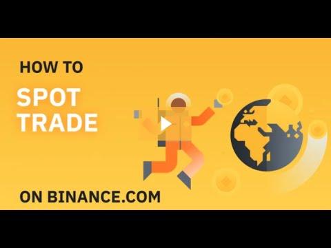 Como fazer trade em Spot (à vista) na Binance
