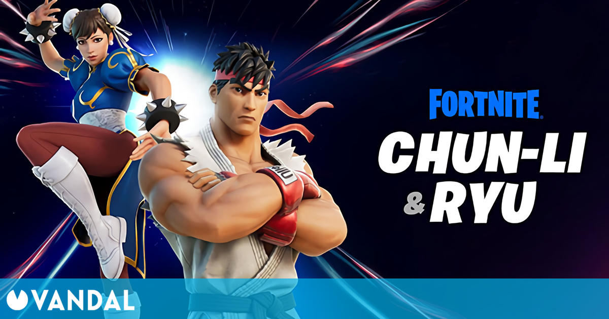 Ryu y Chun-Li de Street Fighter llegan hoy a Fortnite