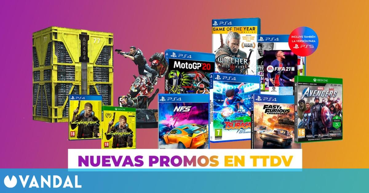 TTDV lanza nuevas ofertas en juegos de Bandai Namco y Electronic Arts