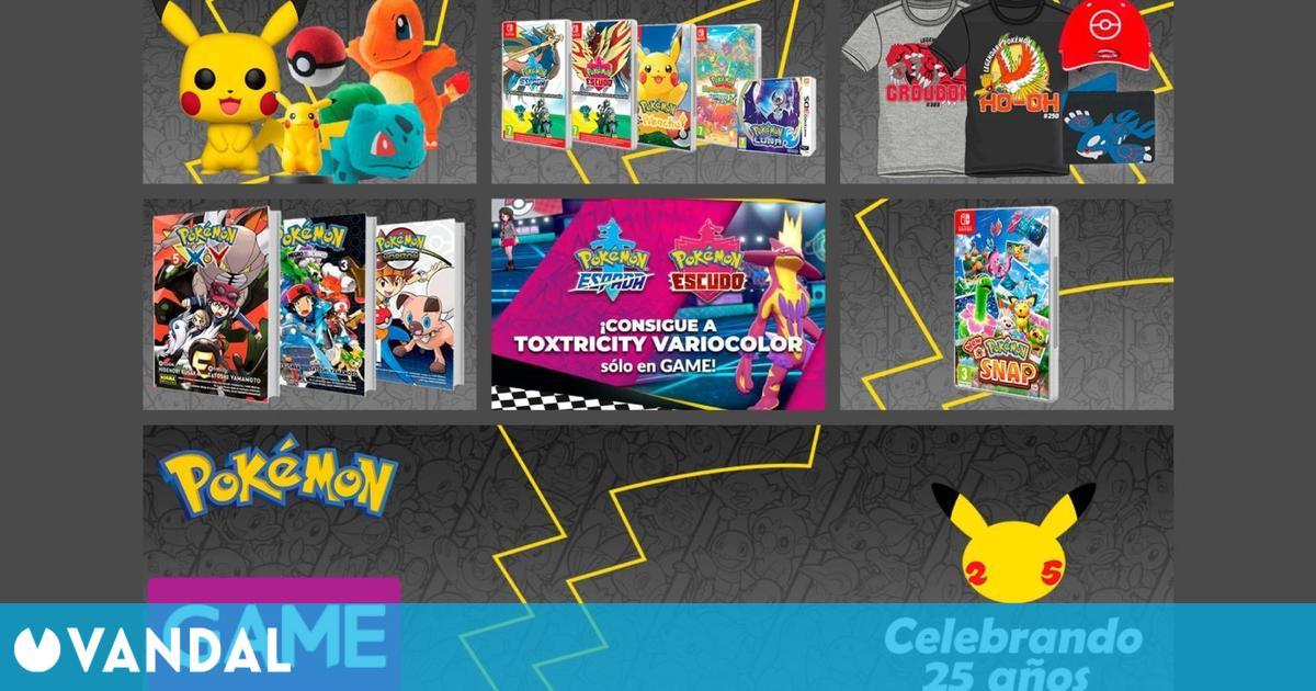 GAME celebra el 25 aniversario de Pokémon con productos, reservas y un Pokémon shiny gratis