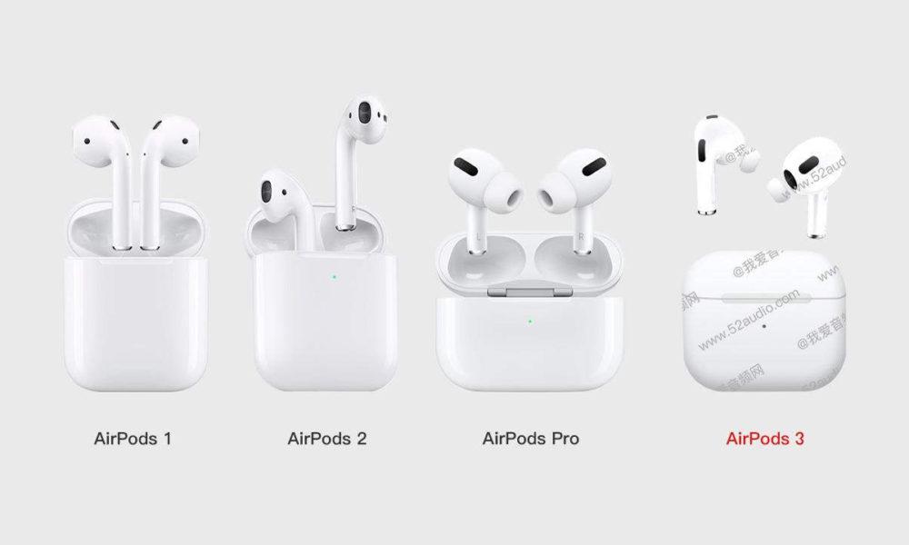 Los AirPods 3 apuntan a un diseño similar a los AirPods Pro