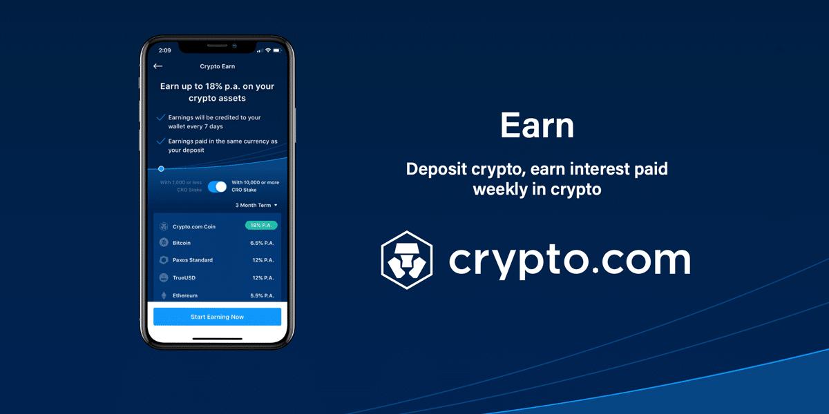 Aprende como ganar intereses con tus criptomonedas en Crypto.com
