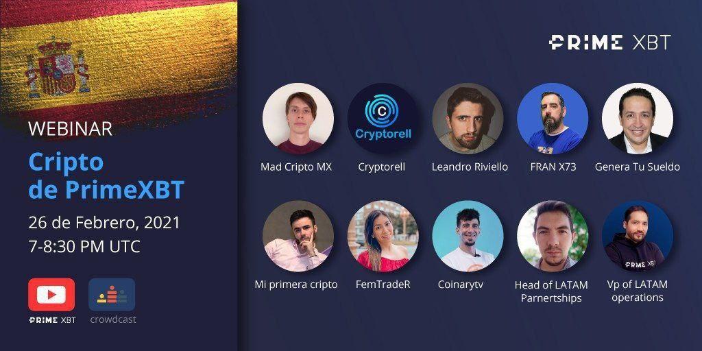 PrimeXBT organiza webinar para dar a conocer más sobre el mundo de bitcoin