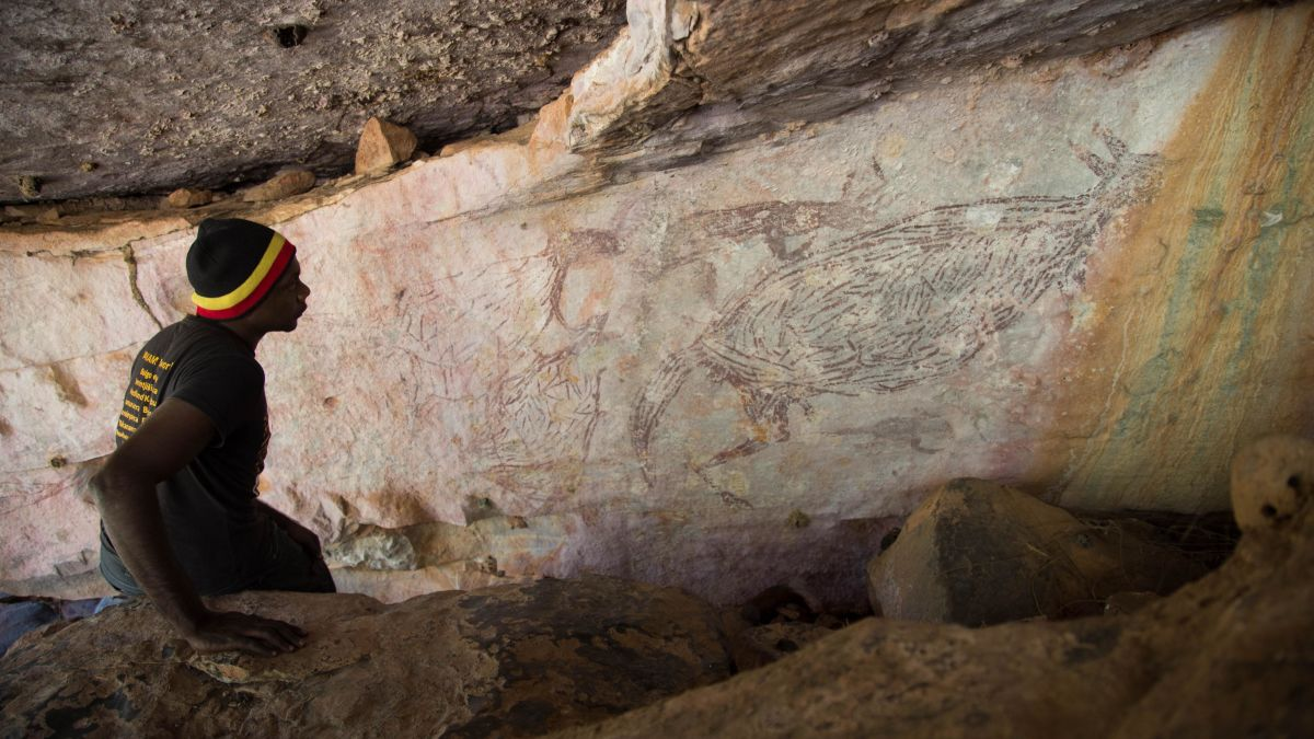 la pintura rupestre más antigua de Australia