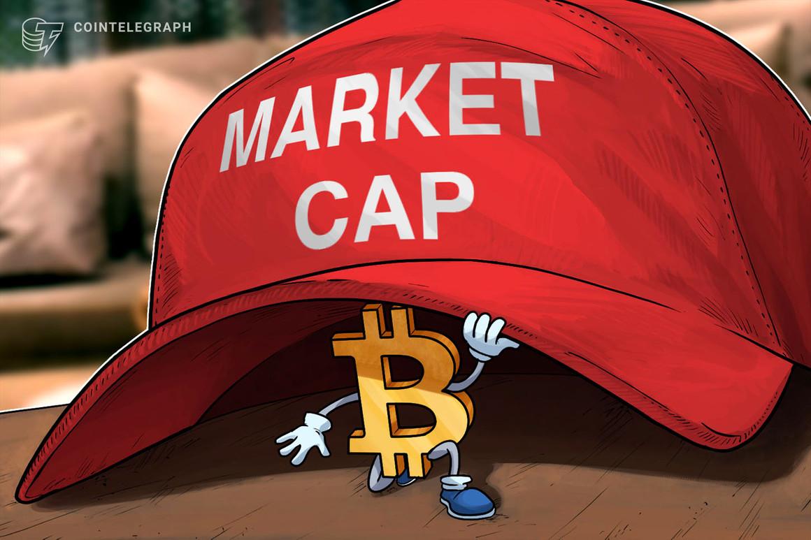 La capitalización de mercado de Bitcoin vuelve a estar por debajo del billón de dólares mientras se profundiza la corrección