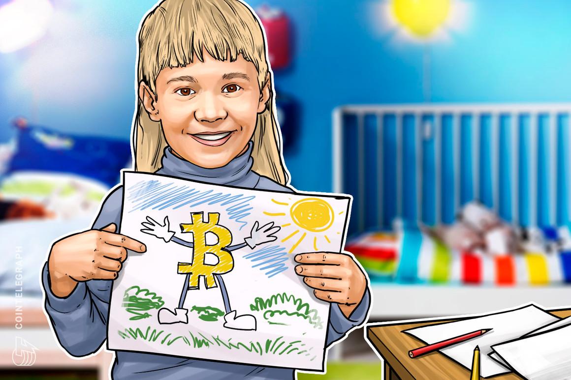 Una educadora de Bitcoin de tres años habla en una conferencia de criptomonedas