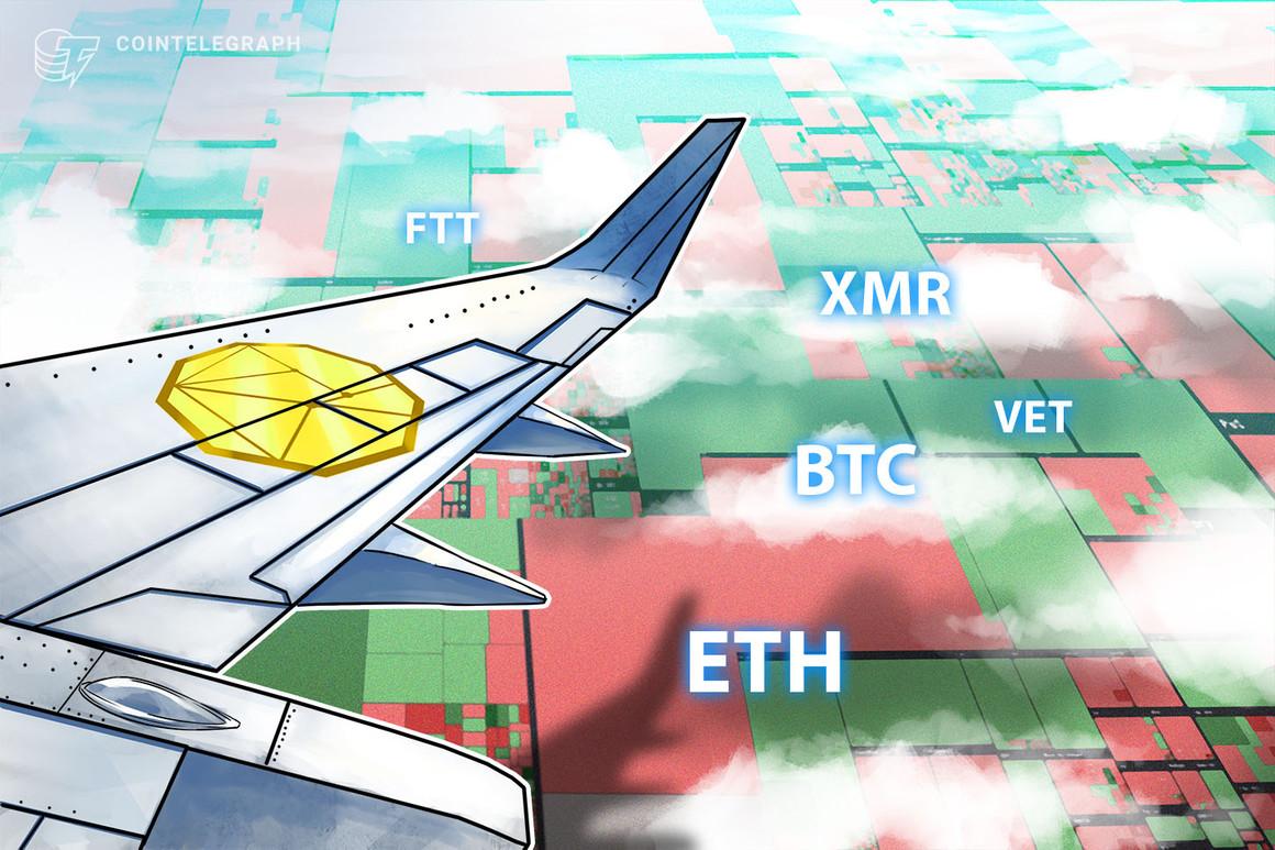 Las 5 principales criptomonedas a observar esta semana: BTC, ETH, VET, XMR, FTT
