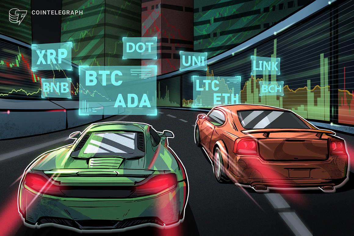 Análisis de precios del 15 de marzo: BTC, ETH, BNB, ADA, DOT, XRP, UNI, LTC, LINK, BCH