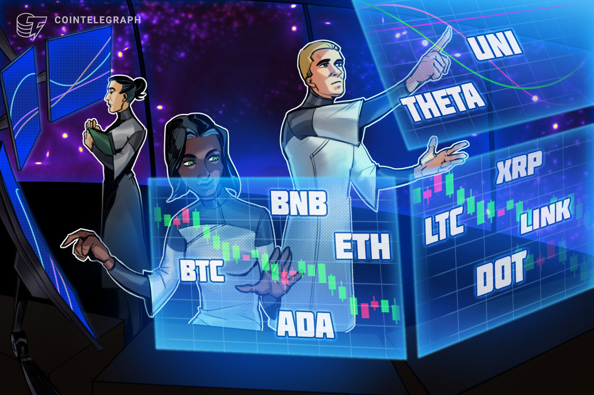 BTC, ETH, BNB, ADA, DOT, XRP, UNI, THETA, LTC, LINK