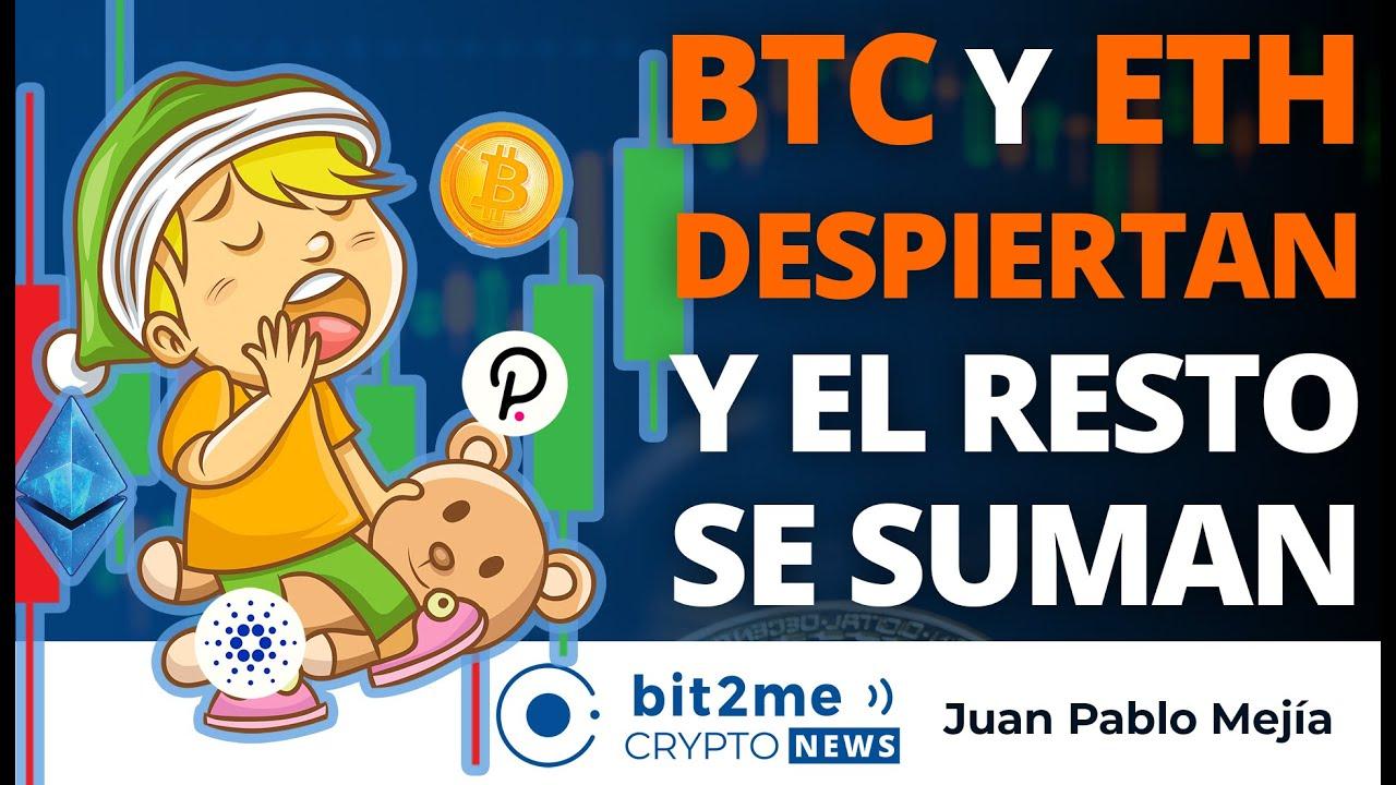 🔵 ⏰ BITCOIN y ETHEREUM DESPIERTAN y el resto se suman – Bit2Me Crypto News