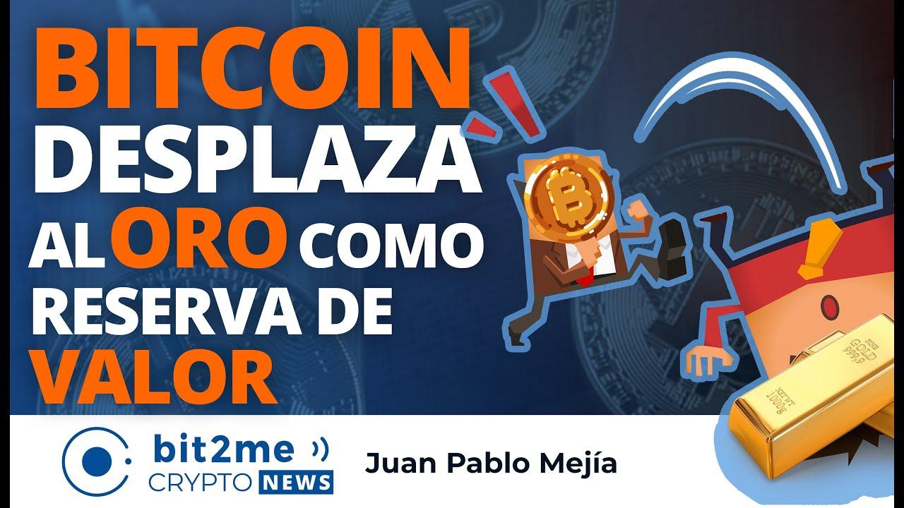 🔵 🥳 BITCOIN desplaza al ORO como Reserva de Valor –  Bit2Me Crypto News