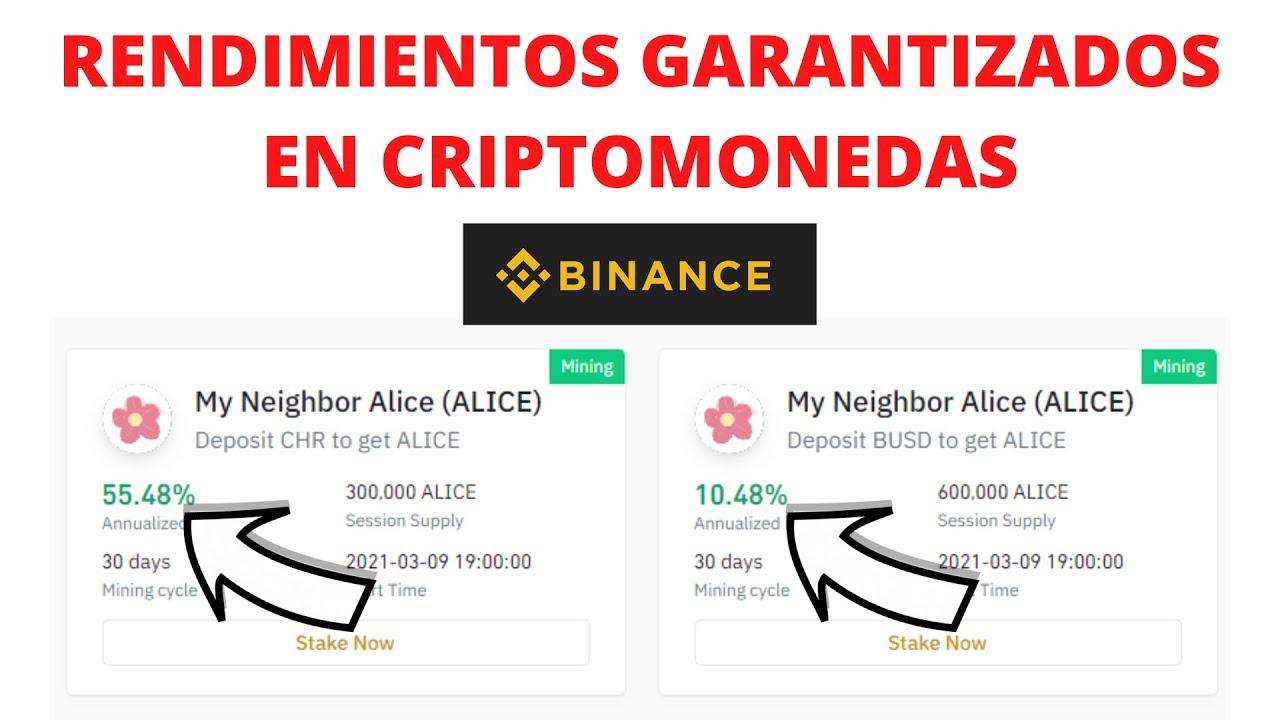 BINANCE TUTORIAL ESPAÑOL 2021 [Como invertir en Mi vecina Alice y obtener ganancias suba o baje]