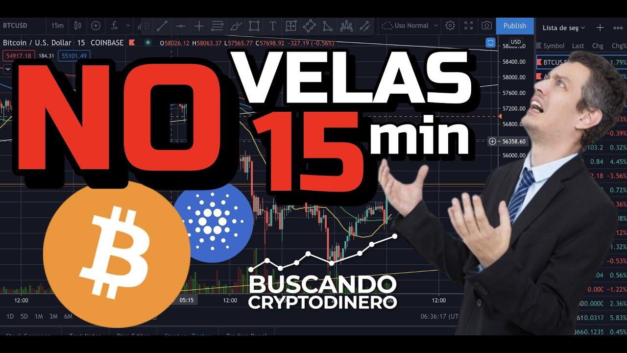 🤯 Bitcoin y Cardano ⛔️ NO veas VELAS de 15 Minutos ⏰!!! + 17 Monedas y rifa !!! #btc #ada