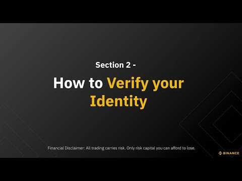 Section 2 – How to Verify your Account