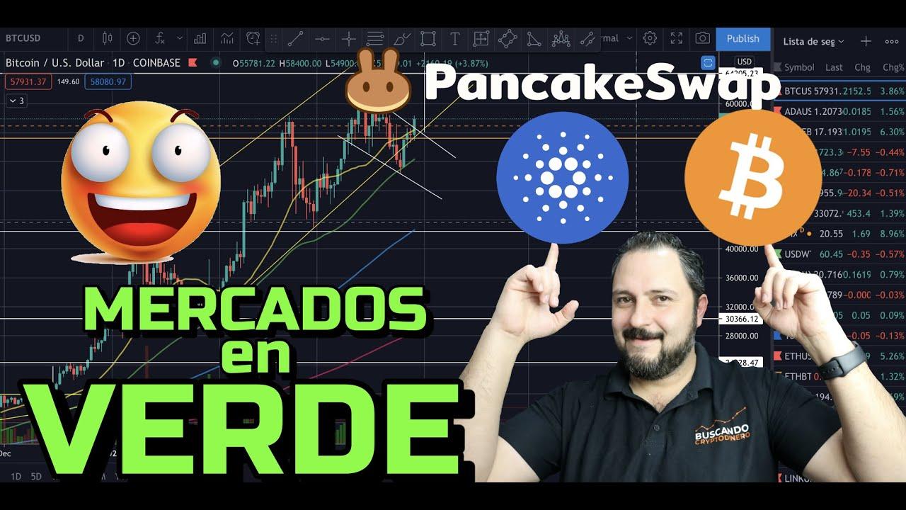Bitcoin + Cardano + Cake = Mercados en verde + 21 Monedas y Rifa !!!