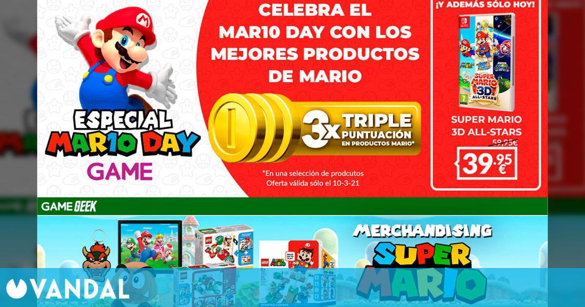 GAME celebra el día de Mario con oferta en Super Mario 3D All-Stars, triple de puntos y más