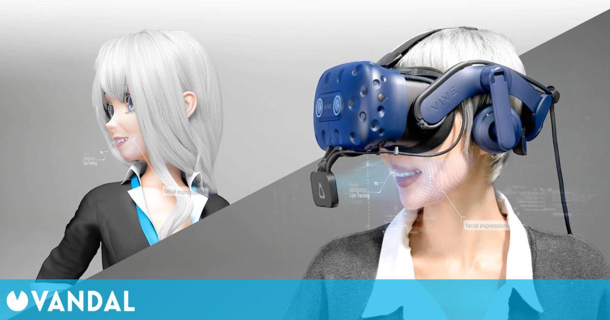 VIVE presenta Facial Tracker, un dispositivo para VR que captura gestos en tiempo real