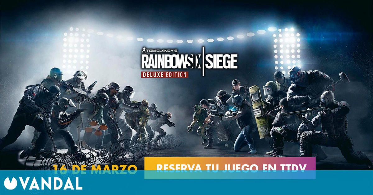 TTDV: Disponible la reserva de Rainbow Six Siege Deluxe Edition para PS5 y Xbox Series X
