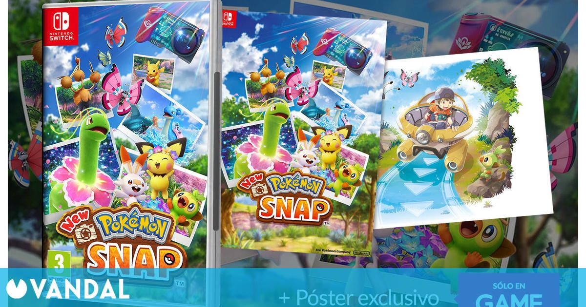 Reserva New Pokémon Snap en GAME y consigue un póster a doble cara exclusivo de regalo