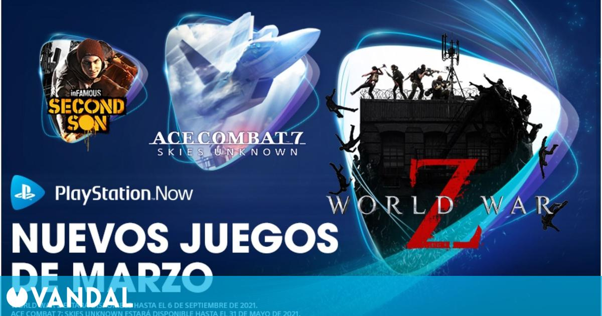 PlayStation Now estrena en marzo World War Z, Ace Combat 7, InFamous: Second Son y Superhot