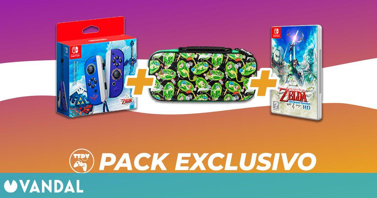 TTDV presenta un pack de Zelda: Skyward Sword HD con los Joy-Con tematizados y una funda