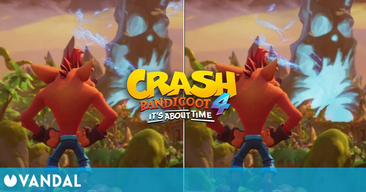 Así es Crash Bandicoot 4 en Switch vs PS5 y Xbox Series X – Comparación