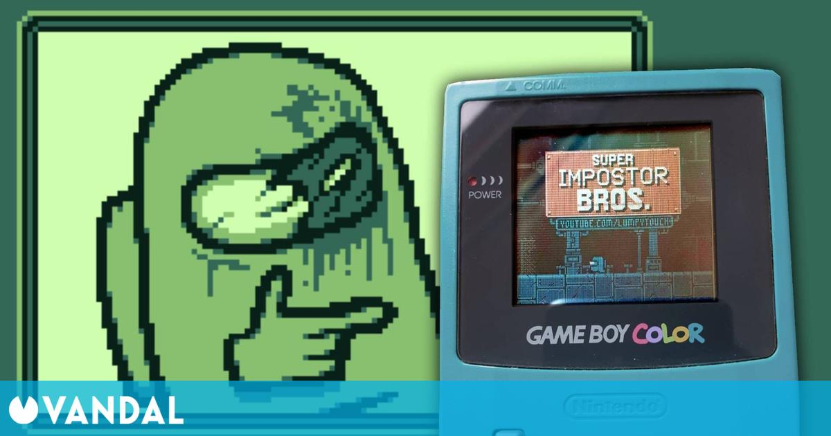 Así es Super Impostor Bros., un juego de Among Us para GameBoy creado por un fan