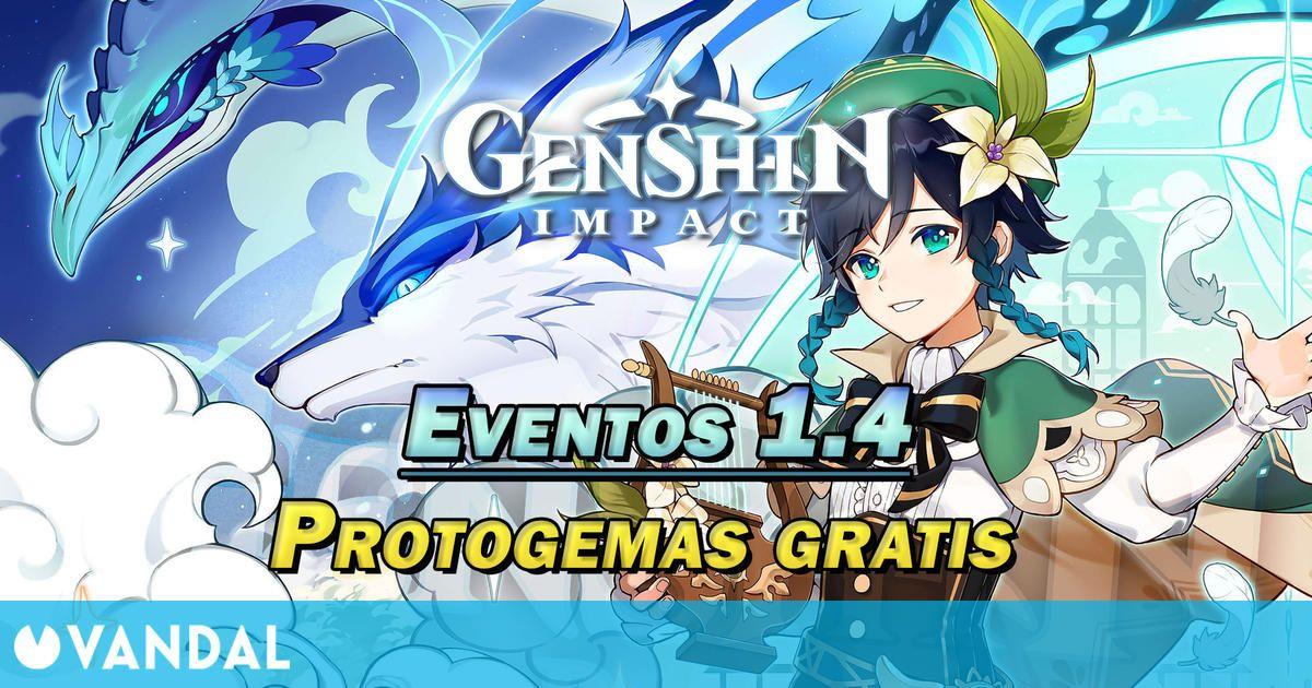 Genshin Impact v1.4: consigue Protogemas y más en los eventos de temporada