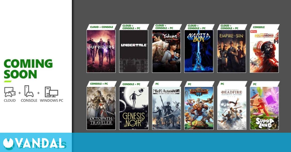 Xbox Game Pass recibe este mes Outriders, Undertale, Genesis Noir, Octopath Traveler y más