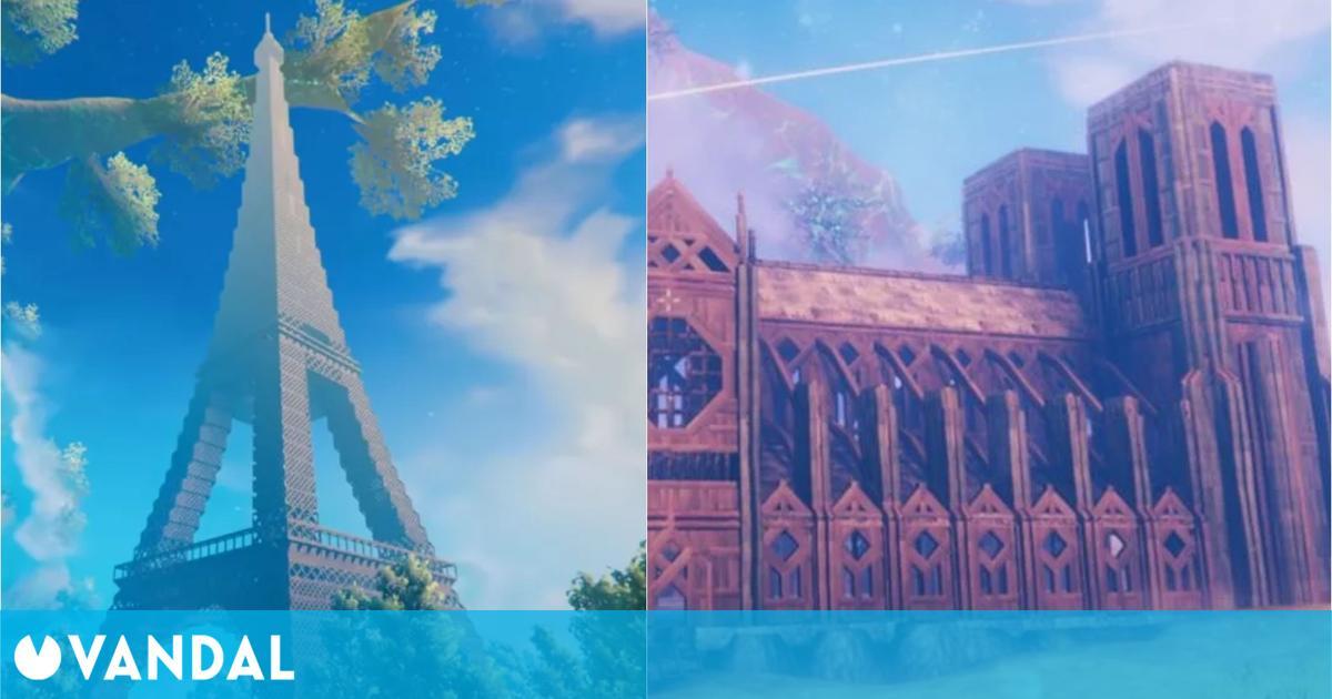 Valheim: Construyen Notre Dame y la Torre Eiffel, para la que han usado 40.000 bloques