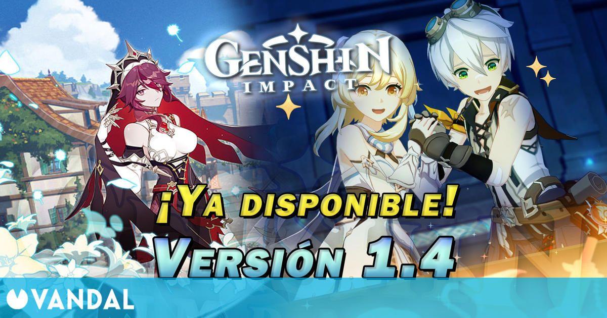 Genshin Impact: Ya disponible la versión 1.4 con Rosaria, Encuentros y más