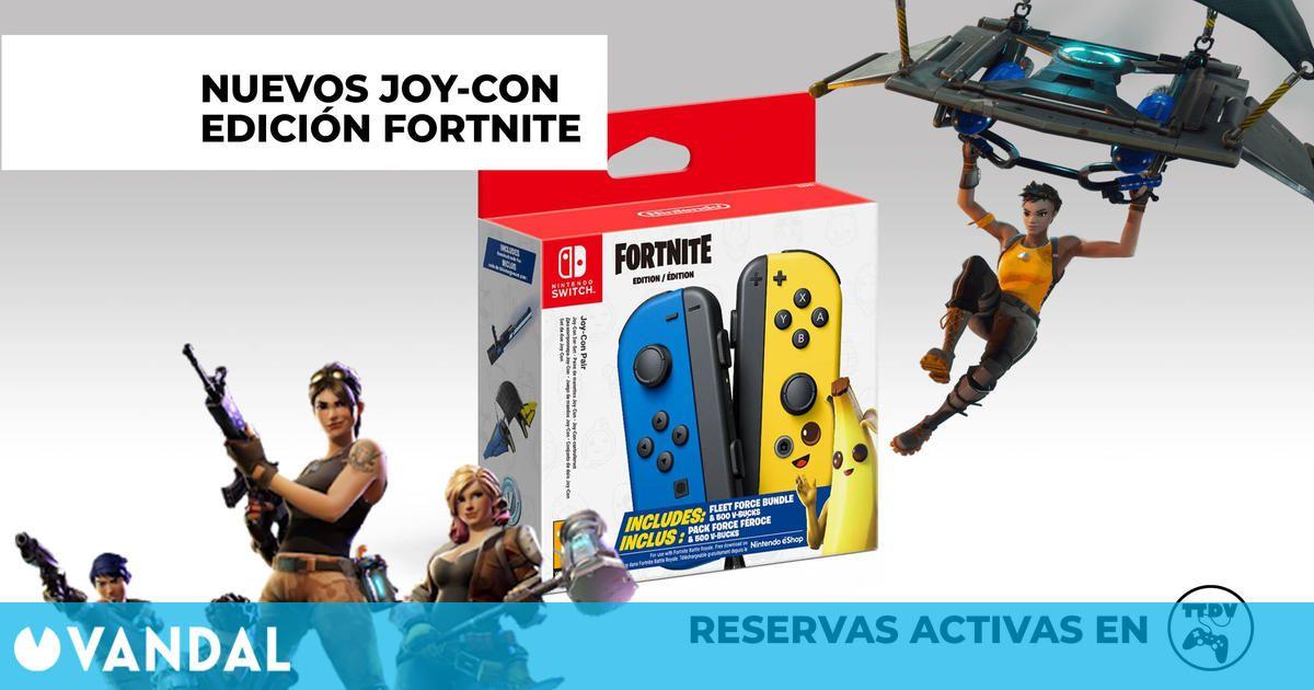 Los Joy-Con edición especial Fortnite ya se pueden reservar en TTDV