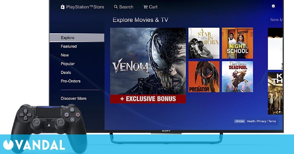PlayStation Store dejará de vender y alquilar películas y series de televisión