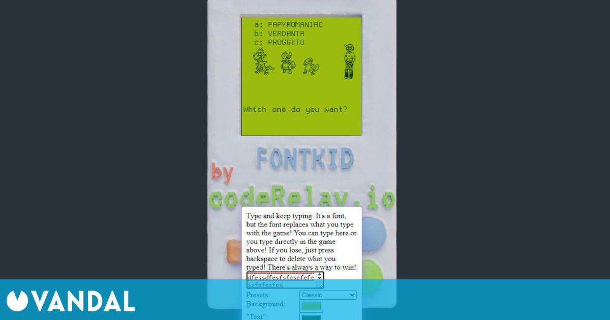 Fontemon es una parodia de Pokémon desarrollada como una fuente de letra