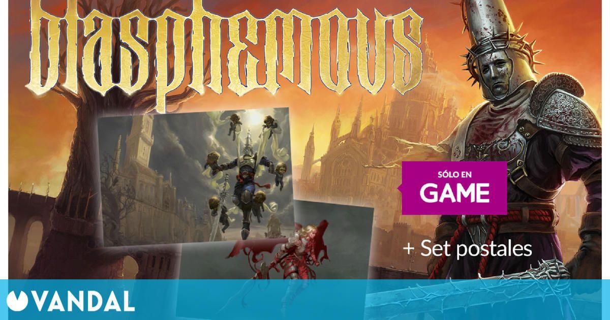 GAME regala dos sets de postales al reservar Blasphemous en físico para PS4 y Switch