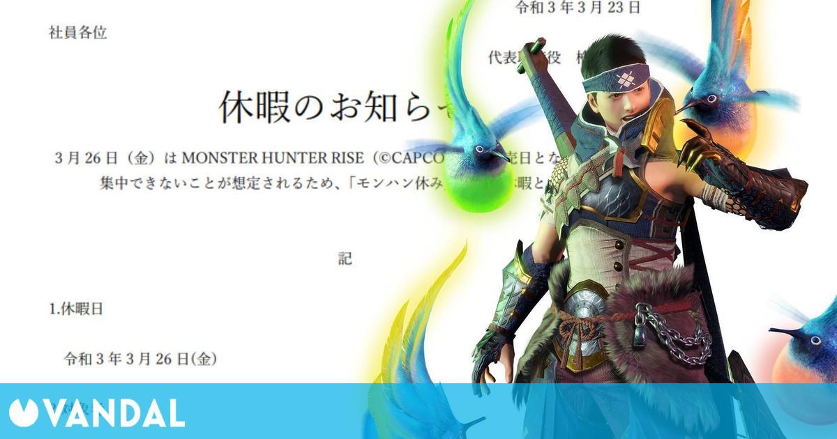 Una empresa japonesa da el día libre a sus empleados para jugar Monster Hunter Rise