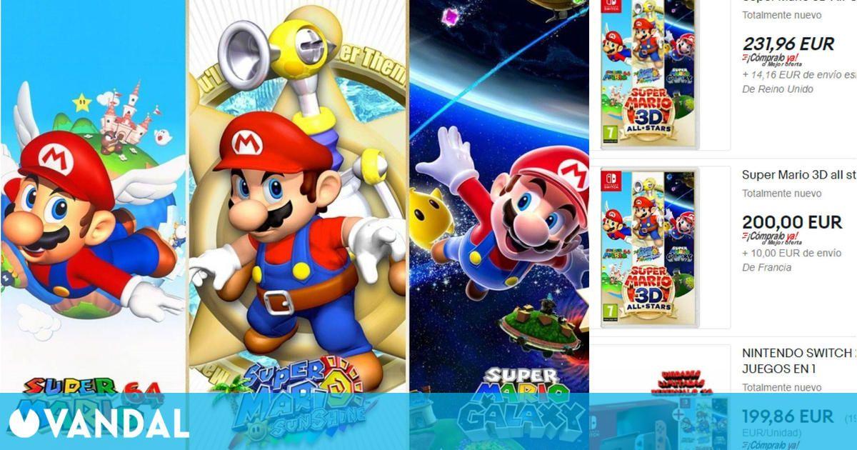 Nintendo deja de vender Super Mario 3D All-Stars y los especuladores se frotan las manos