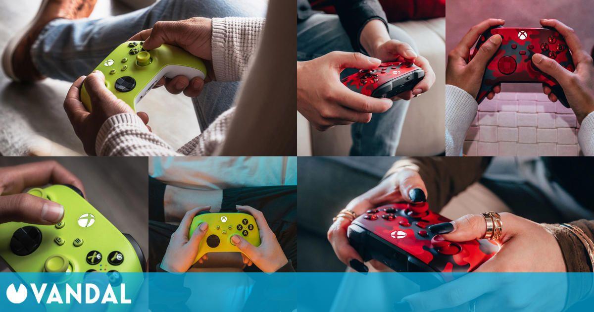 Los nuevos mandos Xbox 'Alto voltaje' y 'Daystrike Camo' tienen materiales reciclados